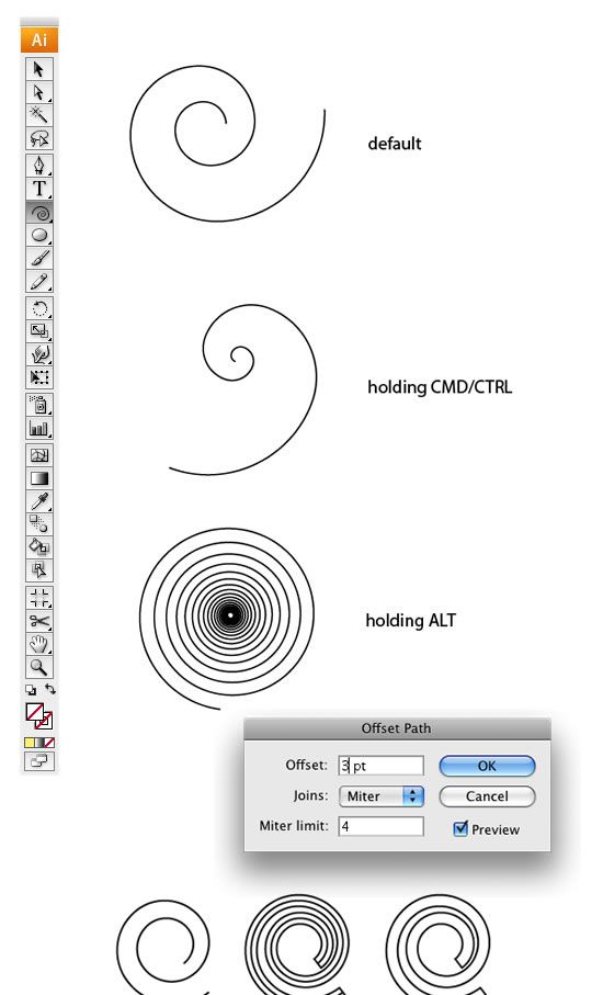 Swirl Mania in Illustrator & Photoshop