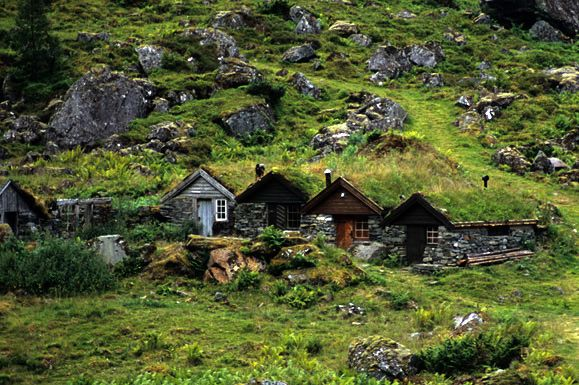 Norwegian Troll Houses;  Norway is home to 'one of the largest Troll populations in the world;'  photo by Matthew Buckle