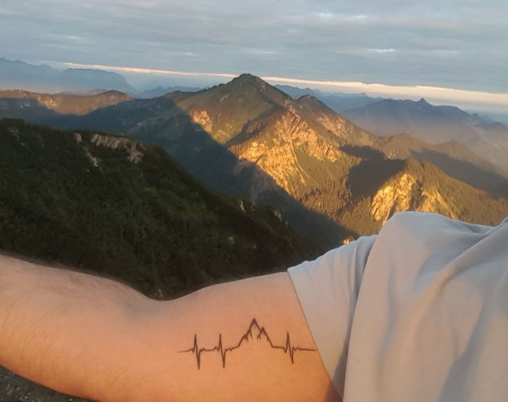 #tattoo #heartrate #heartbeat #heart #rate #Herzschlag #Freiheit  #Heimat #Berge