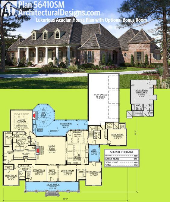 11583 best home ideas images on pinterest home for Acadian house plans with bonus room