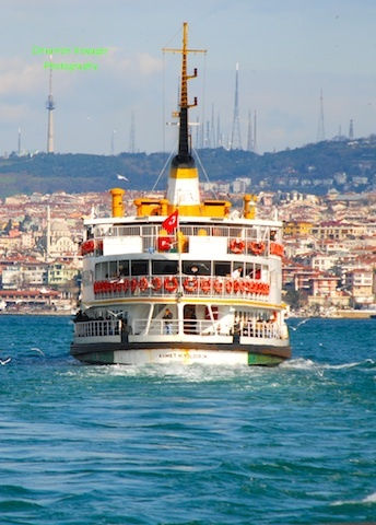 Istanbul , Turkey - On the Bosphous