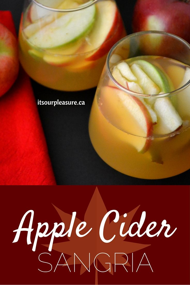 This apple cider sangria has a great combination of fall flavours and is a perfect drink to keep you warm this time of year.