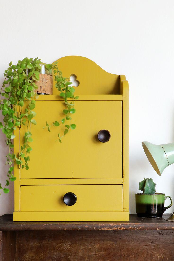 MY ATTIC SHOP / mustard yellow cabinet / vintage    www.entermyattic.com