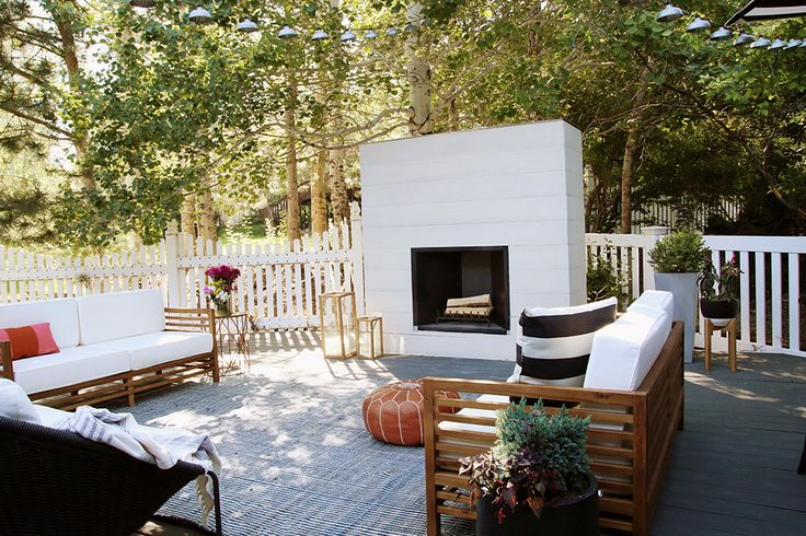 How to Build An Outdoor Fireplace | Chris Loves Julia