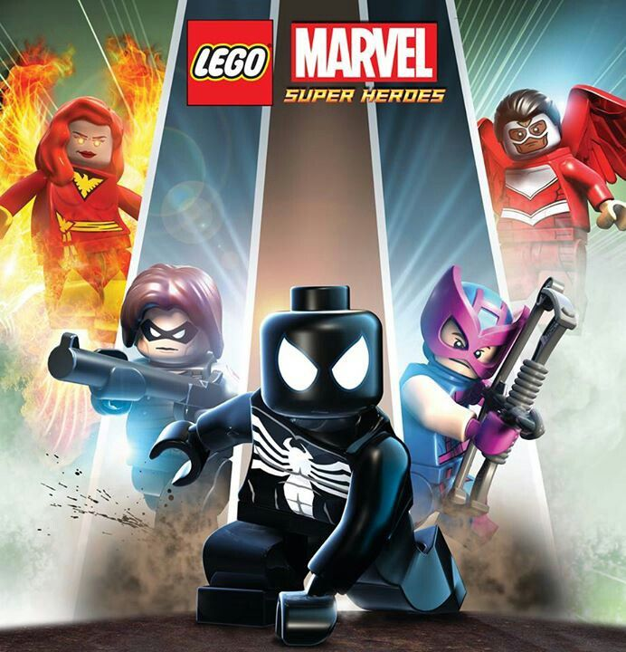 Lego Marvel Super Heroes, venom Symbiot spiderman, original Hawkeye, Winter soldier, and Falcon. Lego Marvel Super Villains, Pheniox.