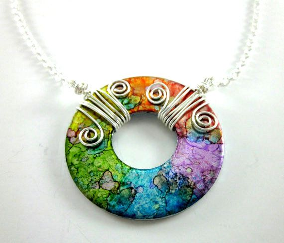 I think this is just a great idea and beautiful as well...using washers to create unique one of a kind jewelery...great way to recycle and make a dollar.
