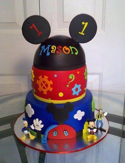 Pastel para fiestas de la Casa de Mickey.