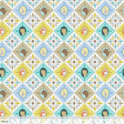 113.108.01.2 Born Wild Patchwork Blue by designer Ana Davis