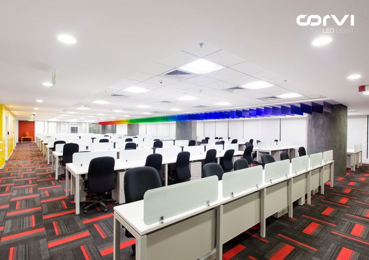 Corvi Downlights and 2 x 2 #LED - M3BI office, Hyderabad, #India #CorviLEDLight