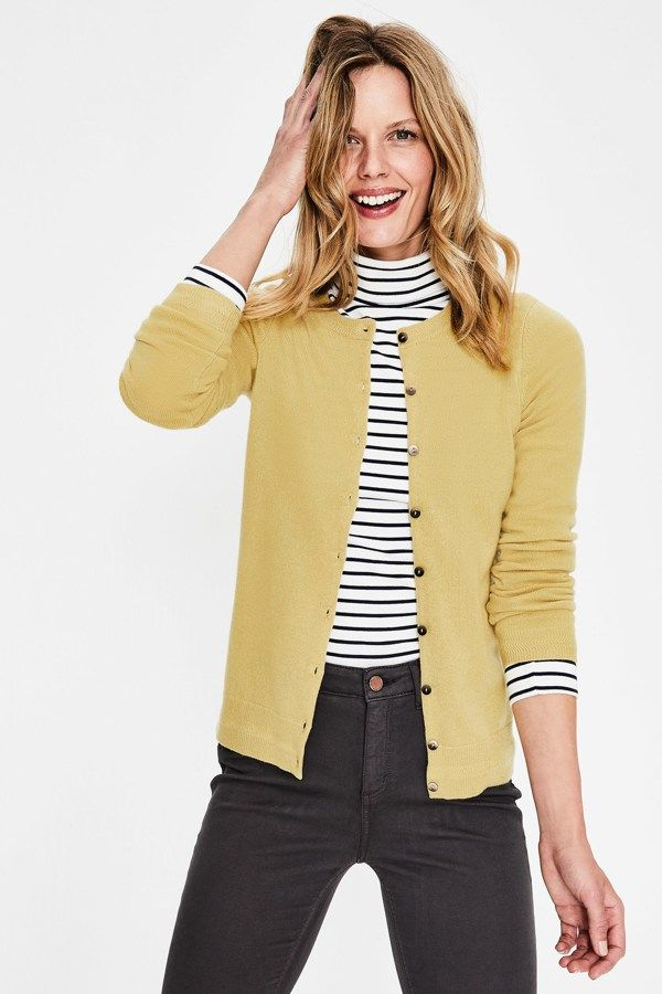 Yellow Fitted Cardigan is perfect to Shop These 15 Chic Cardigans To Layer With …