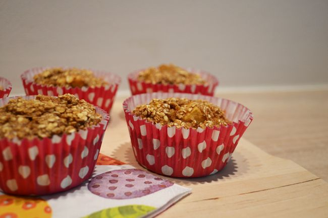 Havermout appel muffins