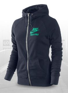 Nike RU NTF Read FZ Womens Hoody - Womens Running Clothing - Dark Grey Heather-Black