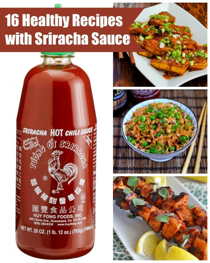 16 Healthy Recipes With Sriracha Sauce. freaking love sriracha. I'm going to try all of these