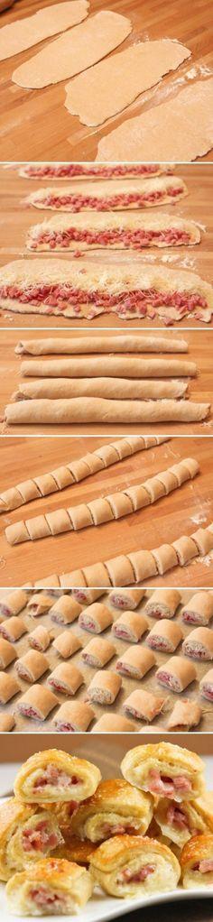 Käse Schinken Rolle für die last-minute Köche unter uns. Tolles Fingerfood für…