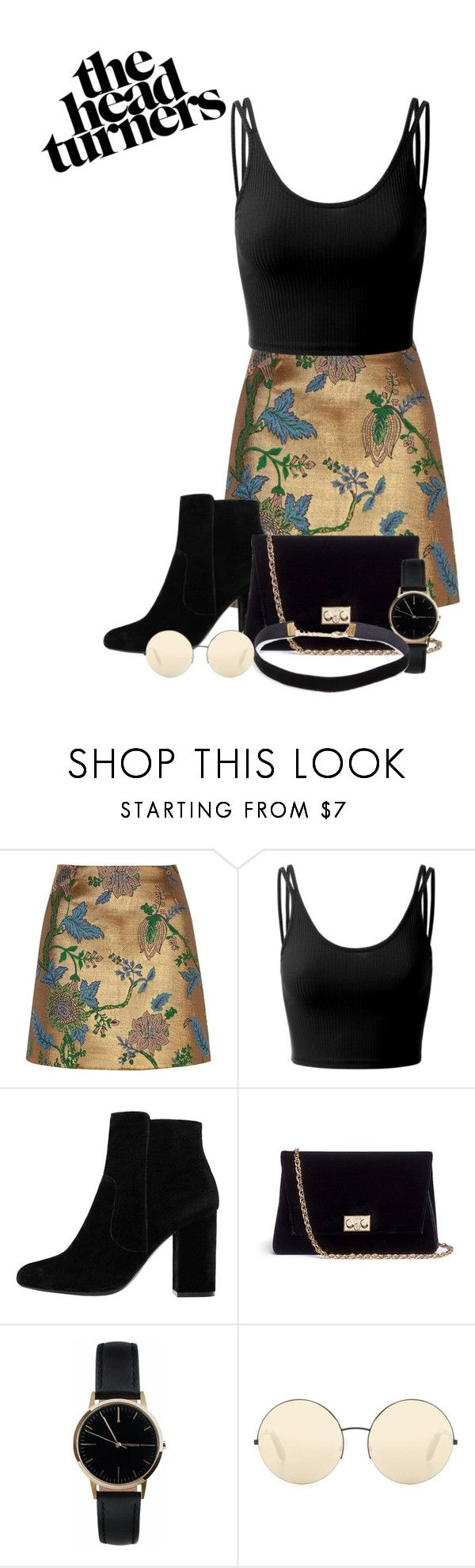 """""""Head Turners"""" by wolf-teen ❤ liked on Polyvore featuring River Island, Doublju, MANGO, Rodo, Freedom To Exist and Victoria Beckham"""