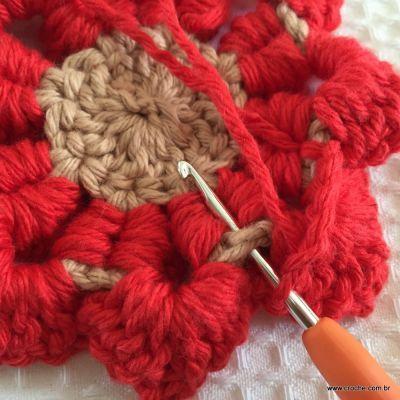 Flor coração passo a passo - croche.com (47)