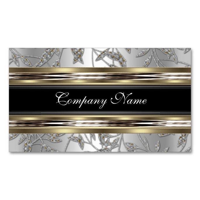 Elegant damask silver pewter chrome metal black business card elegant damask silver pewter chrome metal black business card black business card business cards and damasks colourmoves