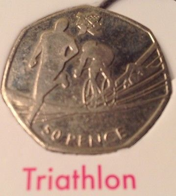 #London 2011 / 2012 olympic 50p fifty pence #coins - coin hunt #album / triathlon,  View more on the LINK: http://www.zeppy.io/product/gb/2/151939505703/