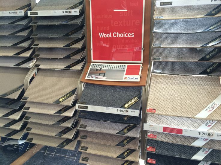 Hycraft Choices Wool Twists, Wool Plush and Wool Loop carpets.