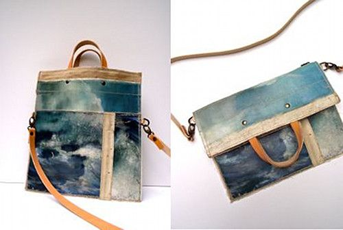 Made from vintage oil paintings sourced in markets across Holland and Belgium