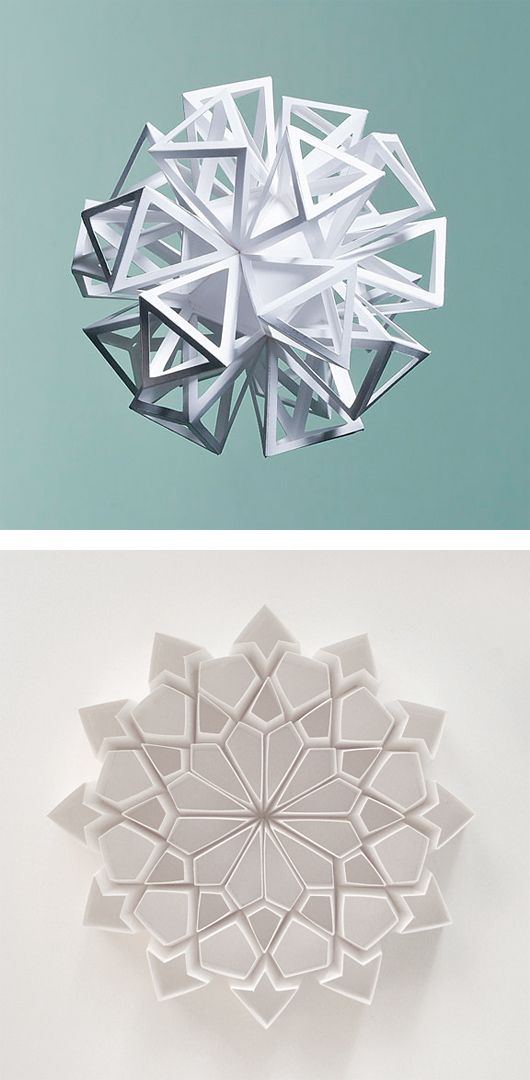 Folded Paper Sculptures by Matt Shlian | Inspiration Grid | Design Inspiration
