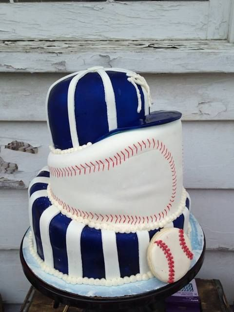 Creative cake from a Vintage Baseball Birthday Party!  See more party ideas at CatchMyParty.com!