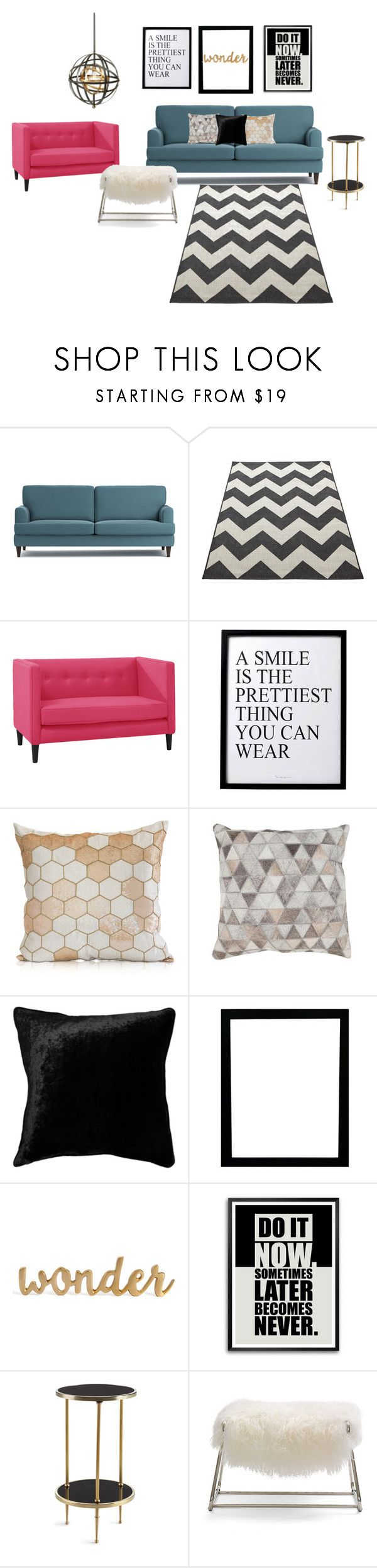 """""""ArtDeco - Modern Living Room"""" by patte-blanche on Polyvore featuring interior, interiors, interior design, maison, home decor, interior decorating, 3R Studios, Squarefeathers, Global Views et Mitchell Gold + Bob Williams"""