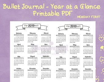 Planning ahead? Here is printable pdf for 2019!