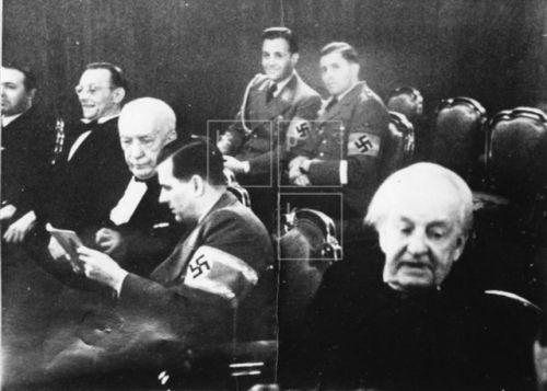 """richardfalk:  """" Baldur von Schirach attends a production of Euripides's Iphigenia in Aulis on November 15, 1943. Schirach's adjutant Fritz Wieshofer is in attendance, smiling in the second row.  @aus-der-traum  """""""
