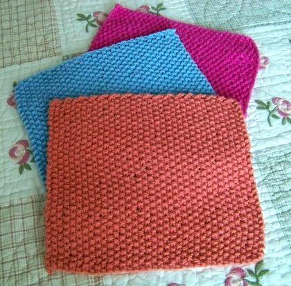 Free Knitting Patterns Kitchen Dishcloths : Free kitchen dishcloth pattern. The dishcloth was knitted ...