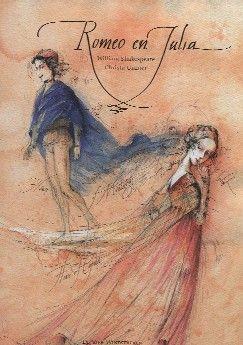 Romeo en Julia - William Shakespeare.    Het wereldberoemde verhaal van Shakespeare over de onmogelijke liefde van Romeo en Julia werd opnieuw verteld door Barbara Kindermann en poëtisch in beeld gebracht door Christa Unzer.