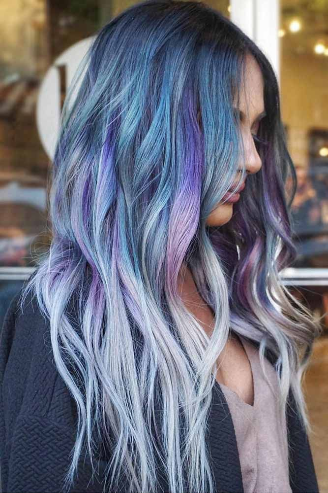 45 Trendy Styles For Blue Ombre Hair Lovehairstyles Com Blue Ombre Hair Denim Hair Balayage Hair