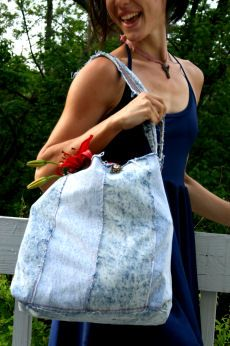 Crafting a Green World | DIY: Upcycle Old Denim Into Market Tote | Page: 1 | Crafting a Green World