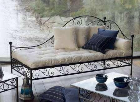 divã - chaise longue em ferro forjado - design decorativo