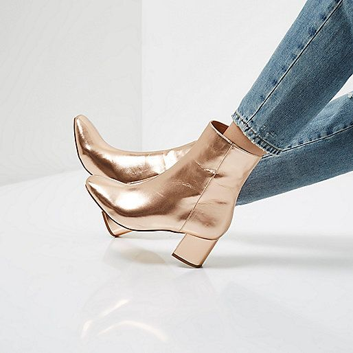 SHOP   Life is good when you're wearing rose gold boots.