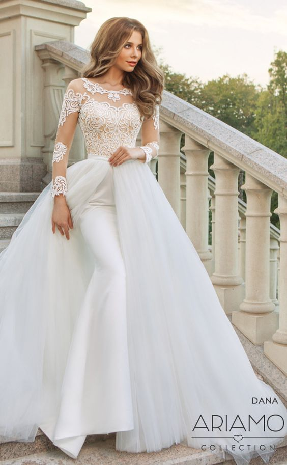 Featured Wedding Dress: Ariamo Bridal; Wedding dress idea.