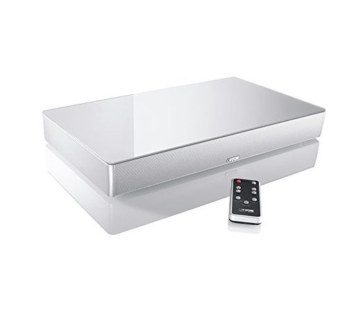 Cheap Canton DM 50 TV Soundbase 2.1 200 W Virtual Surround Sound with Glass Top - Silver Best Selling