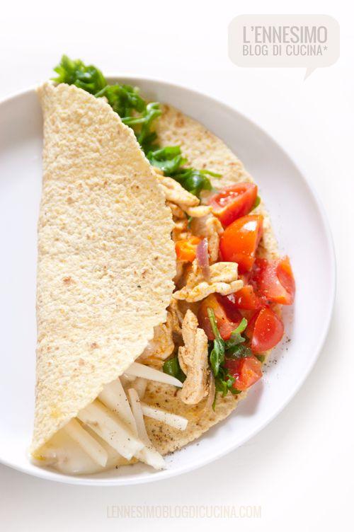 Tacos di mais al pollo con pomodorini e #Asiago (chicken tacos) ©lennesimoblog