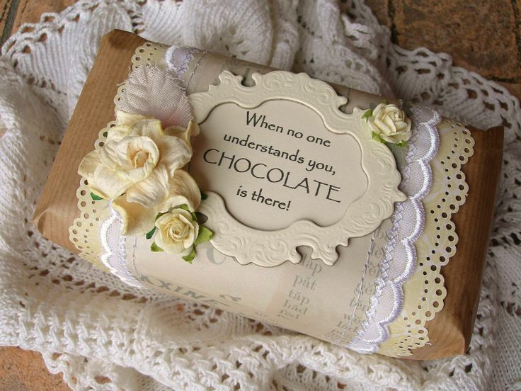 Great way to make a simple chocolate bar a special gift!