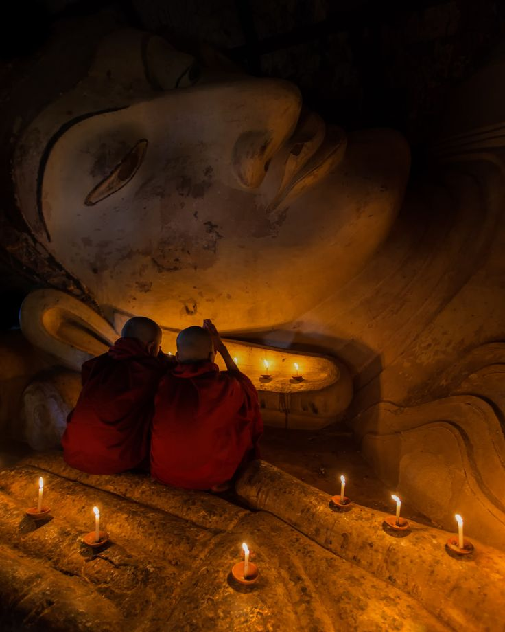 Spiritual Moments at the Shinbinthalyaung reclining Buddha (Bagan, Myanmar 2013)  Burma is a land full of mystical places, legends and myths that have b... - Alex Stoen - Google+