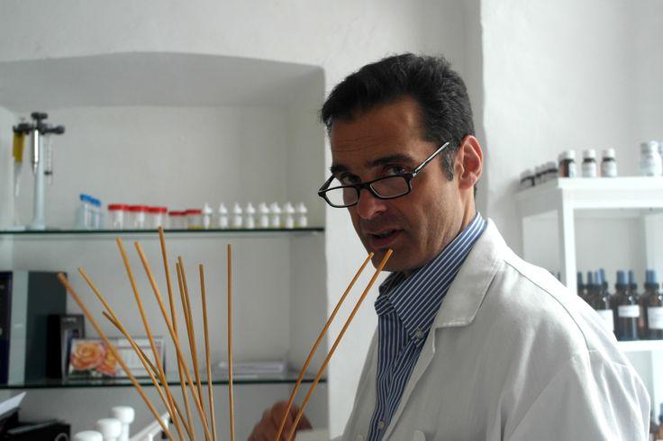 Final test: tasting a new fragrance in lab.