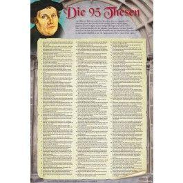 Plakat Die 95 Thesen nach Martin Luther