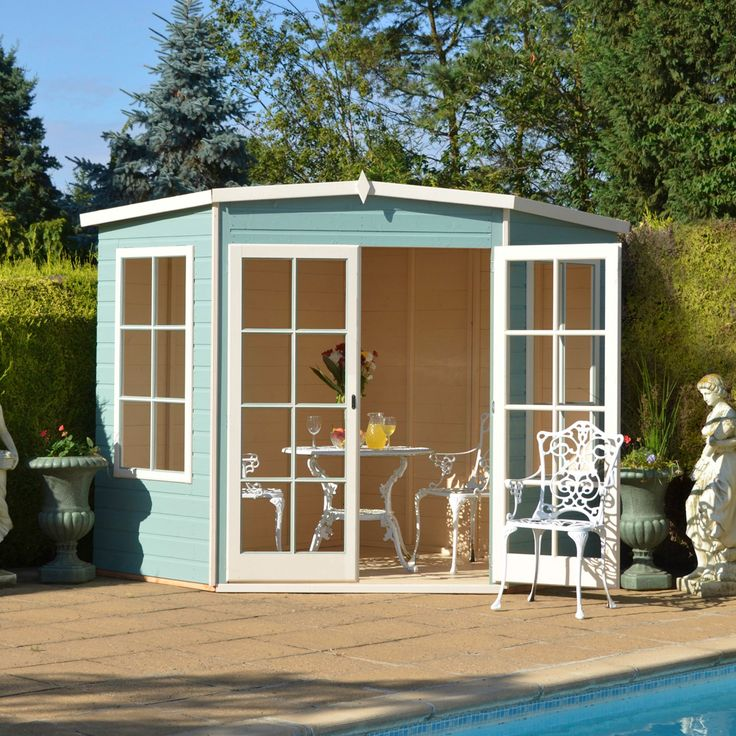 8X8 Hampton Shiplap Timber Summerhouse with Toughened Glass with Assembly Service | Departments | DIY at B&Q
