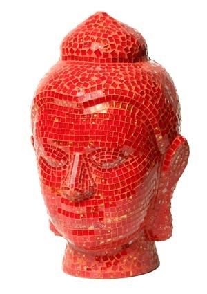 AMRITA SINGH HOME COLLECTION 14'' Mosaic Buddha Head