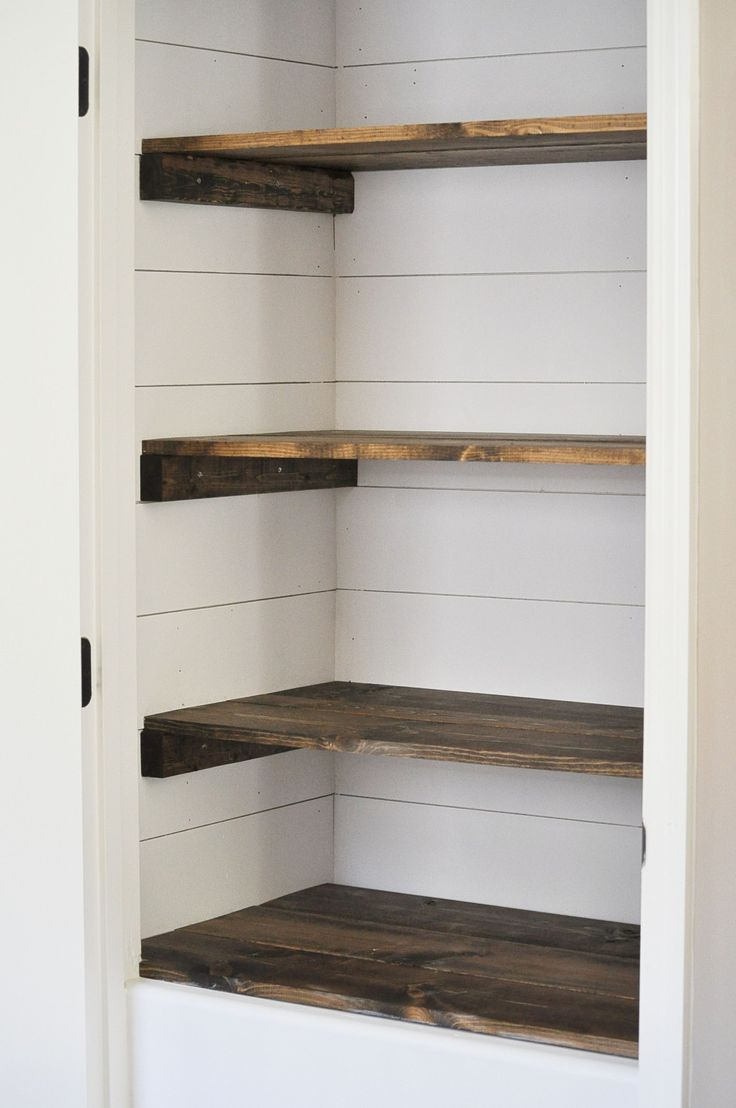 Kitchen closet pantry shelving diy pantry shelves - Farmhouse Pantry Makeover Broom Storagepantry