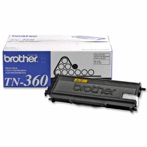 Brother TN360 High Yield Black Toner Cartridge by Brother. $48.22. From the Manufacturer                The Brother TN360 High Yield Black Toner Cartridge offers an expected lifetime yield of 2,600 pages based on 5-percent coverage. It is compatible with Brother models DCP-7030, DCP-7040, HL-2140, HL-2170W, MFC-7440N, and MFC-7840W. What's in the Box Brother TN360 High Yield Black Toner Cartridge                                    Product Description                You'll ...