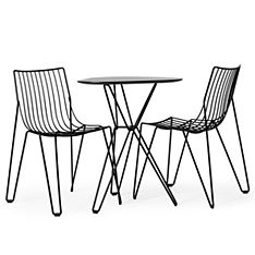 massproductions tio dining chair black
