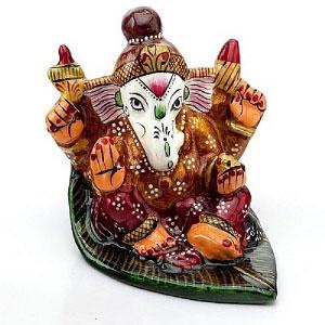 Handpainted Enamelled Metal Lord Ganapati