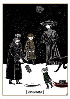 Edward Gorey for Christmas: just say no to fruitcake...favorite Christmas card sent to me from my sister
