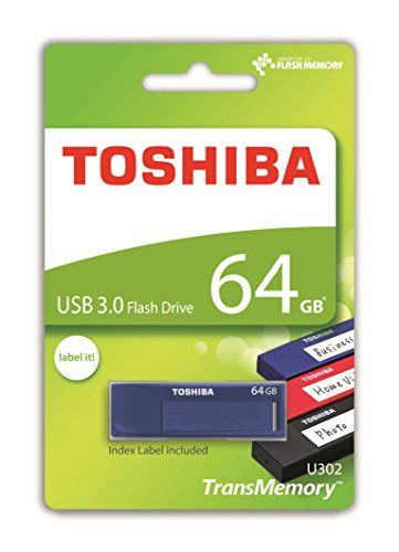 cool Toshiba TransMemory U302 64GB USB 3.0 Azul unidad flash USB - Memoria USB (USB 3.0 (3.1 Gen 1), USB 3.0, Type-A, 0 - 50 °C, -20 - 60 °C, Tapa)